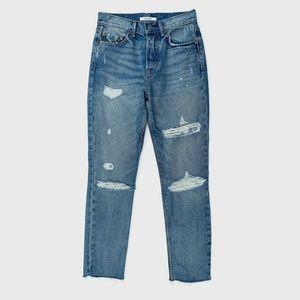 GRLFRND Karolina High Rise Fray Skinny Jeans 25